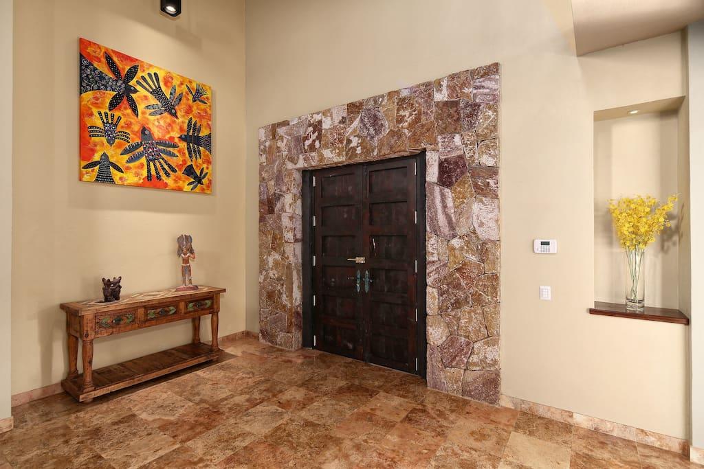 Entrance of Casa Piedra Azul