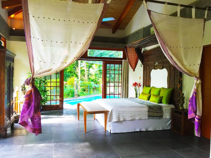 Luscious Rainforest Villa bordering National Park