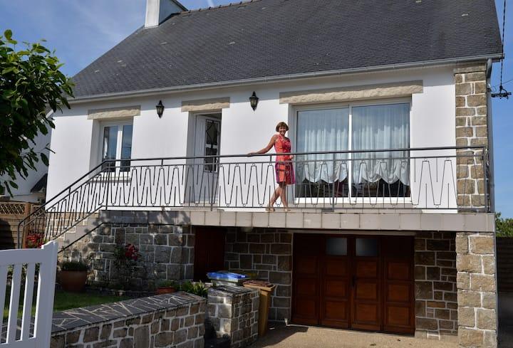 Chambre dans maison proche du bord de mer