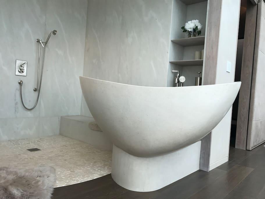 Your Penthouse Rain Shower & Soaking Tub