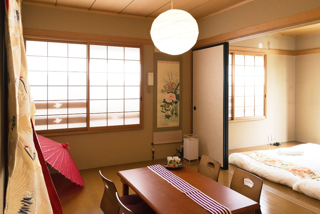 Without a doubt the highlight of this property: traditional Japanese room designed by an interior designer.