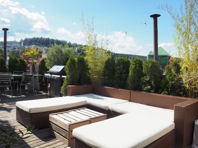Loft - close by the Center with private Terrasse