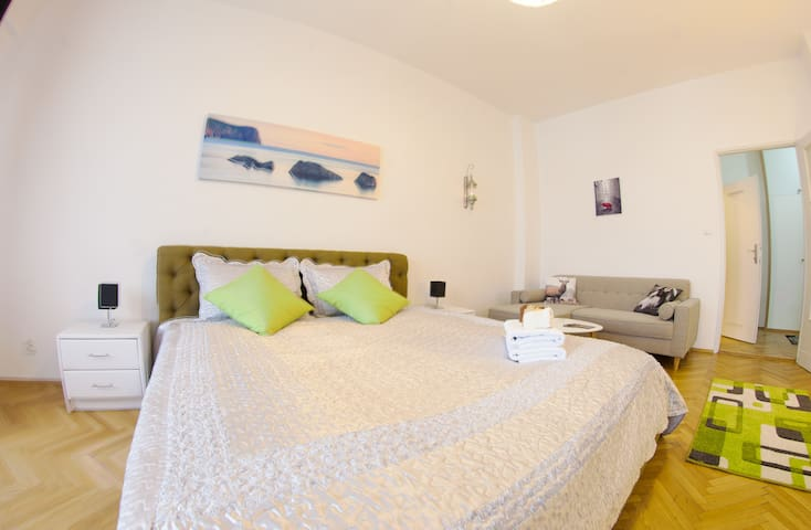 Comfortable double bed will be excellent place to rest after long sightseeing