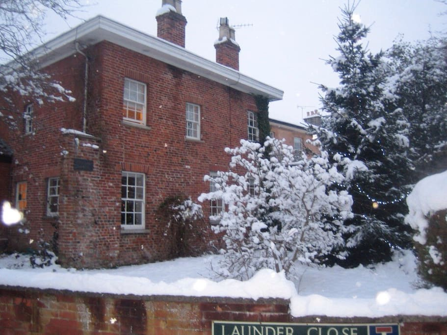 Bell hay house in the snow!