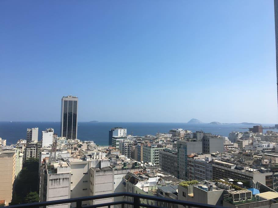 vista espetacular de Copacabana - spetacular view of Copacabana