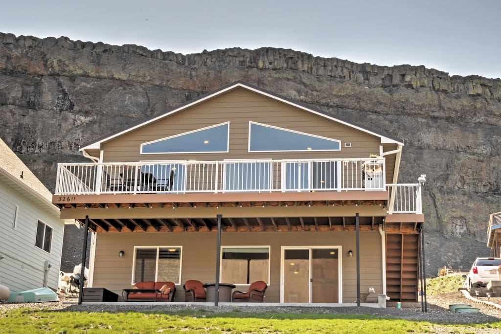 Boasting 2,200 square feet, this home features a large deck and patio for your relaxation.