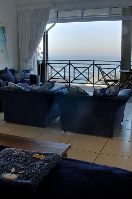 Beach Suite interior looking out to  sea