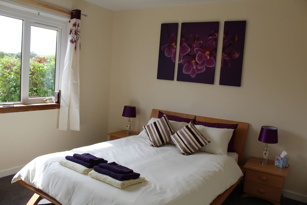 Master Bedroom with stunning view of Ben Rinnes