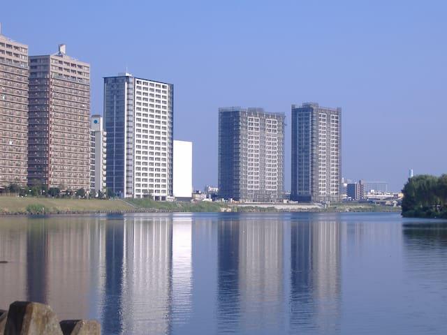 Luxury river view Condo Free Wifi タワーマンション川崎駅徒歩12分 - Saiwai-ku, Kawasaki-shi - Wohnung