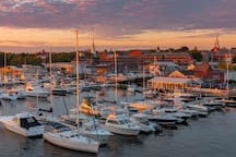 During the summer and fall, there is a very lively boating community.