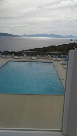Deniz ve Kos manzaralı villa 2+1 - bodrum palamut mevki akyarlar