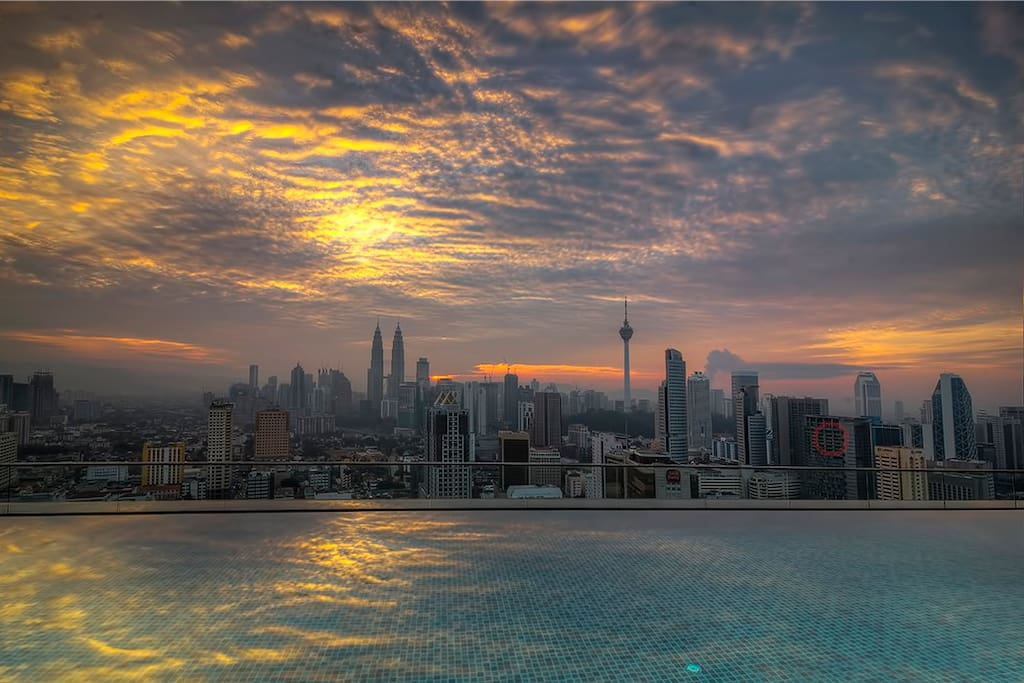 Amazing view from the rooftop swimming pool!
