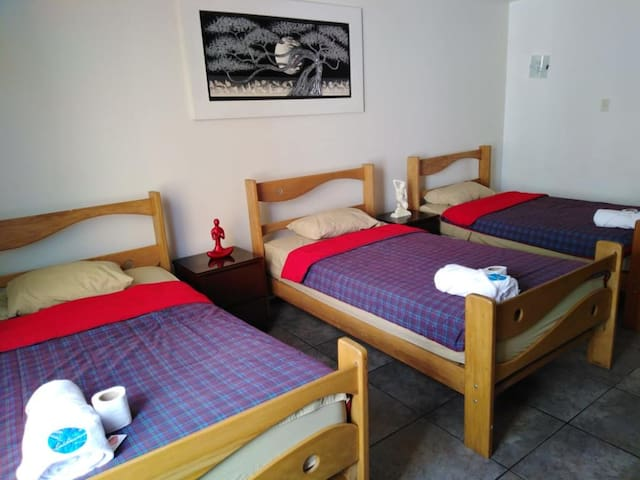 Habitación Privada 4 camas Baño Privado 102