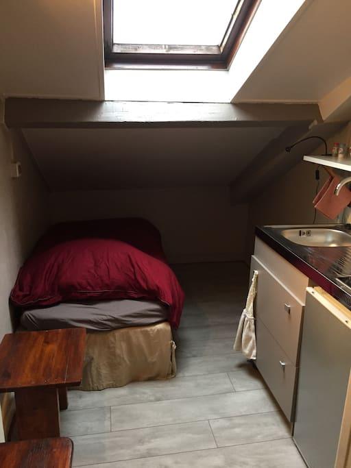 chambre de bonne sous les toits appartements louer grenoble rh ne alpes france. Black Bedroom Furniture Sets. Home Design Ideas