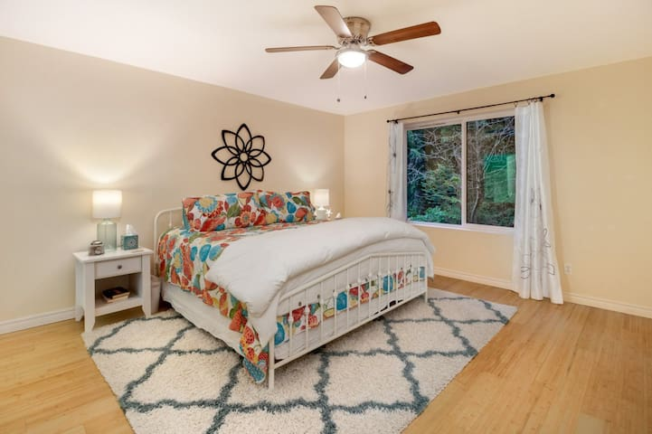 Master with King Size Bed and attached bathroom