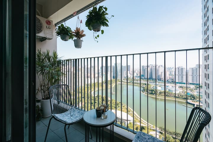 STUDIO✧SUPER LAKEVIEW & SAFE for COUPLE/FAMILY