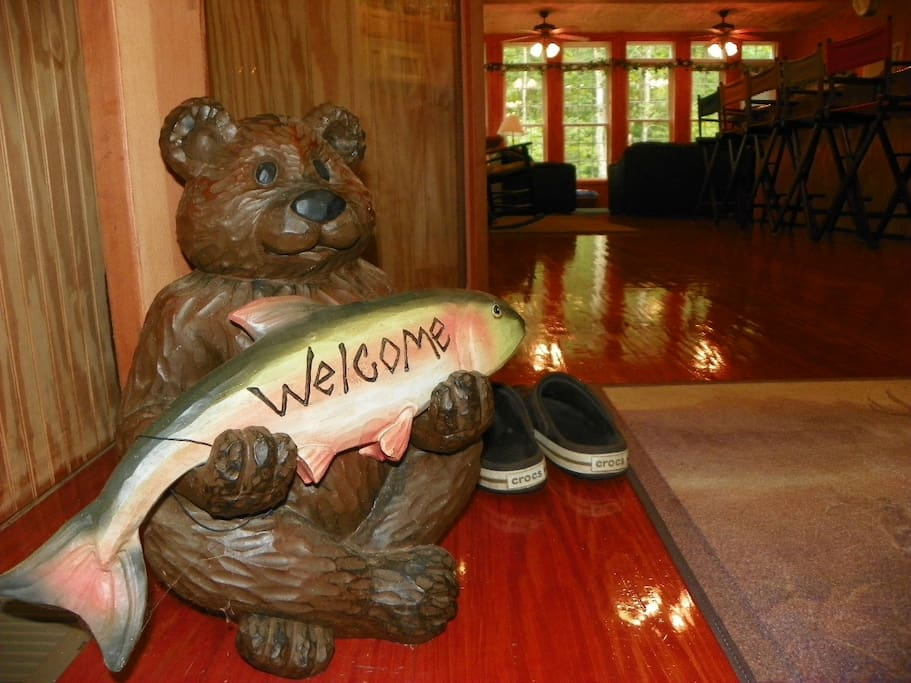 We welcome  guests and all fish to Musical Waters Cottage!