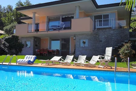 Exquisite villa with pool and views - Meina - Villa