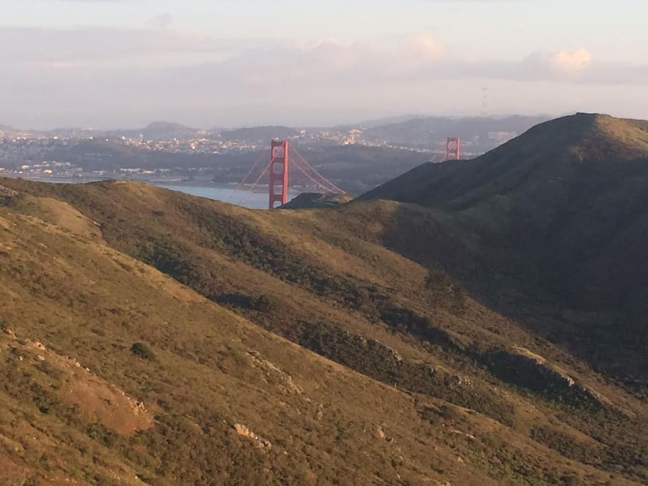 Marin Headlands, walking distance from the house.