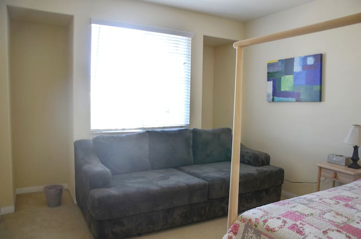 room 4 Comfortable bed and big & soft sofa upstair