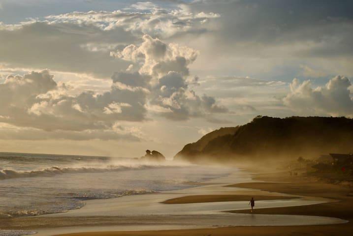 Cabaña frente al mar en Playa Mermejita Mazunte