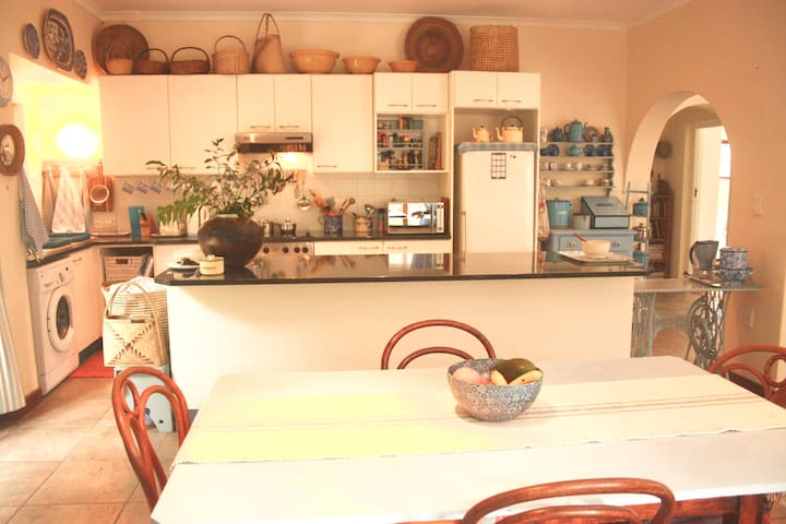 Dining room and kitchen counter