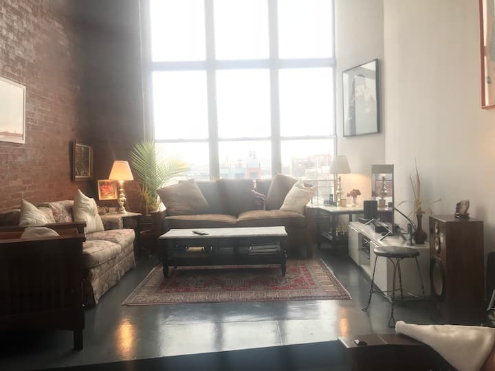 Spacious, Sunlit Brooklyn Loft with City Views