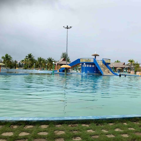 Marina theme park which is just 2 minutes walking distance from the apartment. Your kids would love spending their time here !