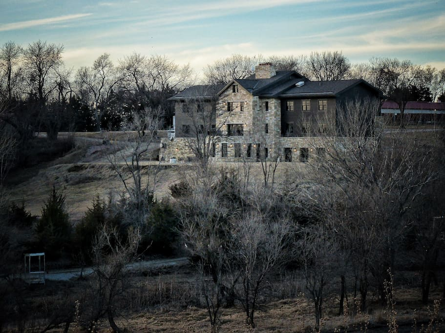 View of the Lodge from the Loess Hills