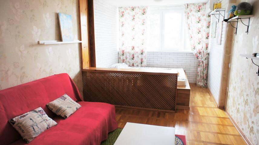 Квартира с видом на море, парковкой - Sochi