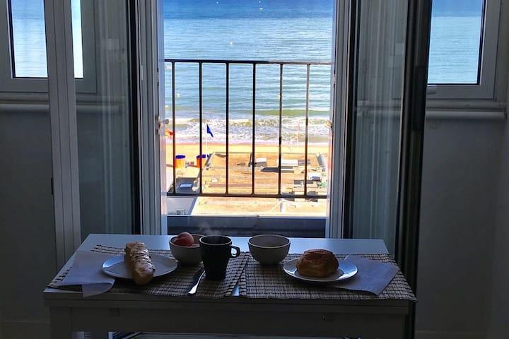 VUE MER splendide, beau 2 pièces, 2 balcons, wifi