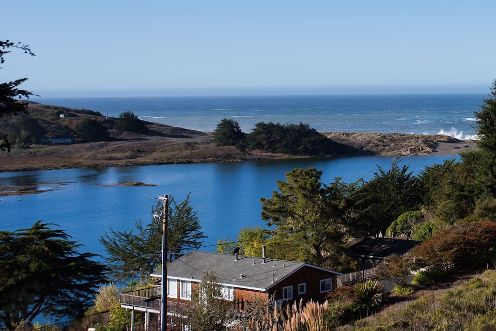 Russian River and Pacific Ocean views. Property is in the village near the Jenner Headlands close to everything.