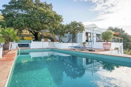 Modern design villa with private pool, sea views and privacy