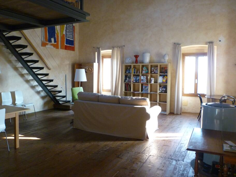 studio La Colombara living room