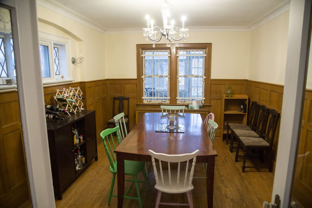 Dining room.  Join us for a shared meal, or kick us out and host your own.