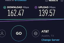 Here's a speed test for you folks that will be doing business and need a fast connection. Also, you'll have smart TV's in the house, so bring your Netflix account if you want to chill. (Don't forget to log out!)