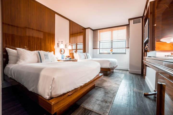 Hotel Hugo, Superior Two Double Beds in SoHo