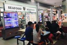 Seafood Western : 1 min walking distance.
