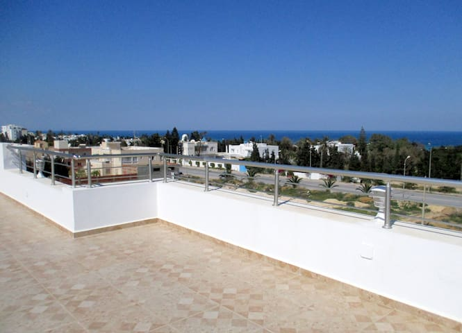 Splendid apartment, bright, terrace with sea view - Sousse - Apartment
