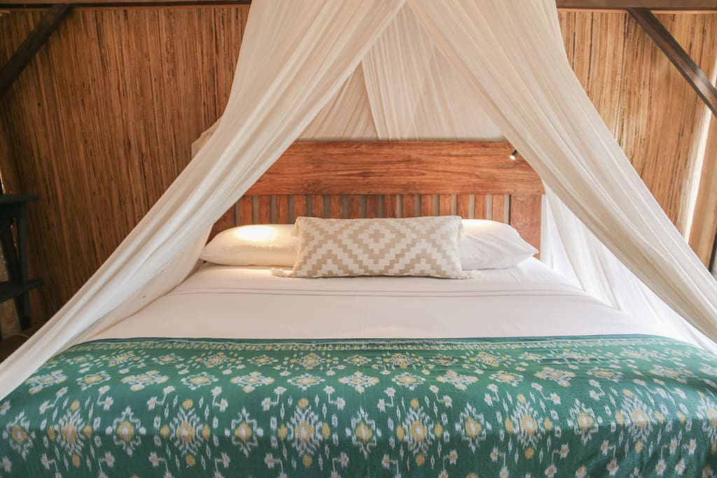 Queen size recycled teak bed