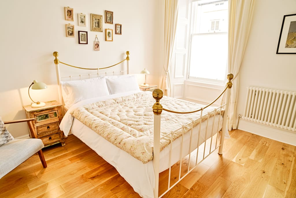 Our very comfortable bed with pocket sprung mattress.