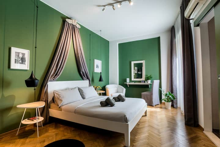 "Double room ""Grey"" in Treviso TERZOPIANO B&B"