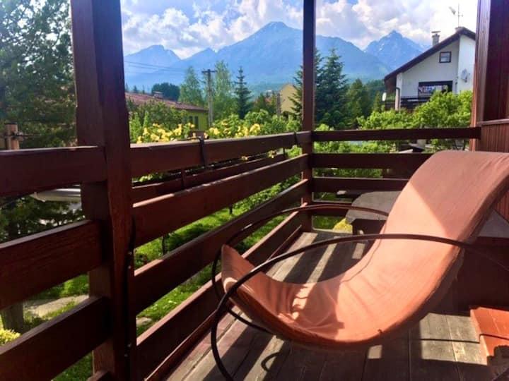 Bývanie s výhľadom na Vysoké Tatry v Novej Lesnej