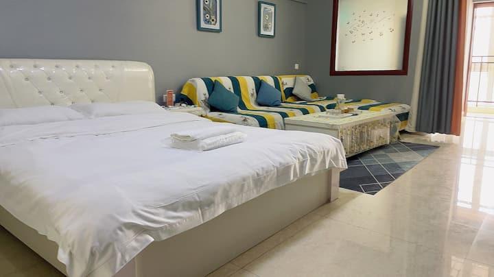 【文化路】银基购物中心/温馨轻奢大床房