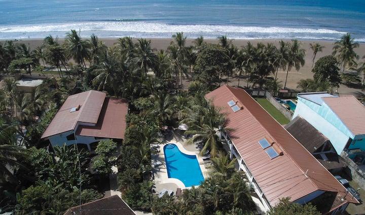 Family style beachfront hotel