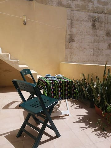 Terrace that can be used by guests