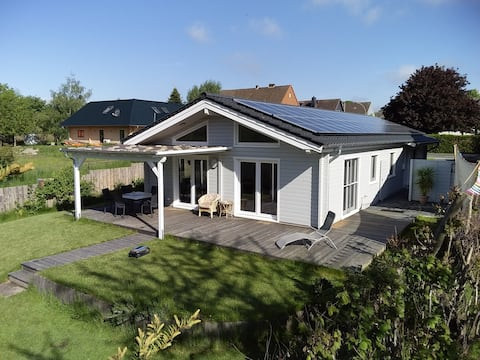 New Swedish house with sun terrace and garden