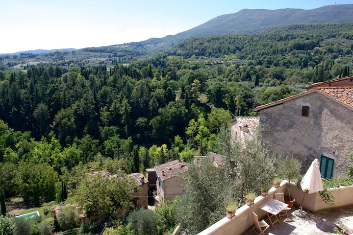 Cozy house with best view in Cetona - Cetona - Hus