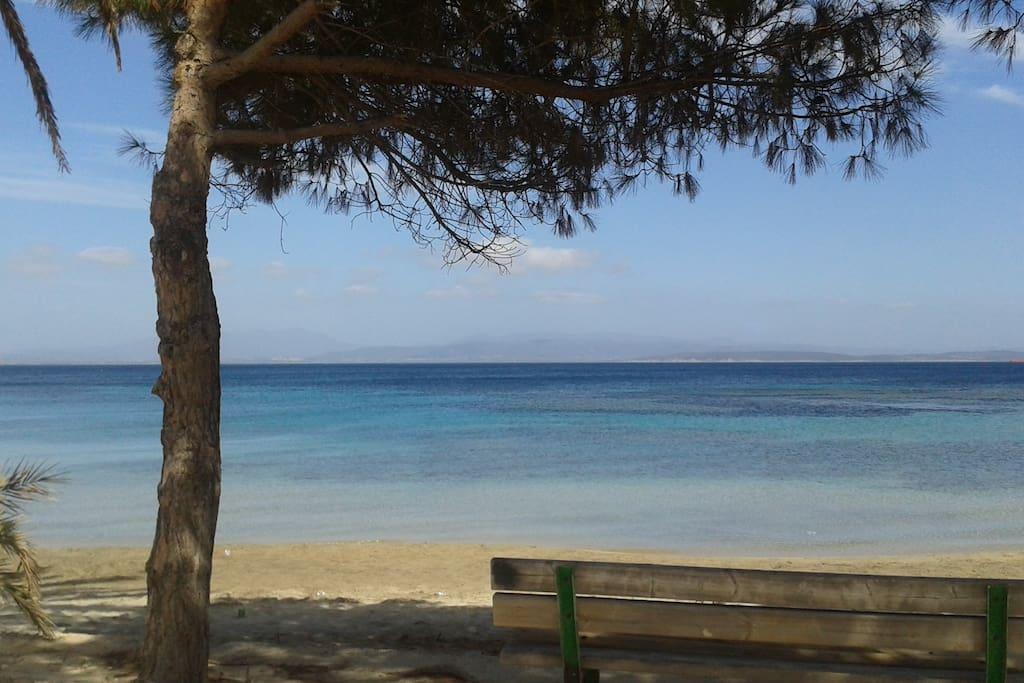 la bellissima spiaggia di maladroxia