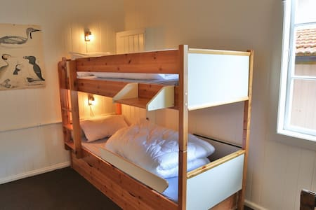 Example Twin-Room. There are four rooms, all with different furnishing.